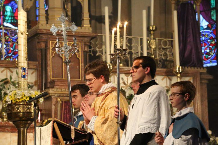 Saint Benedict's senior choir sing at the Easter Triduum