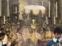 O Sacrament most Holy, O Sacrament Divine, all praise and all thanksgiving be every moment thine!